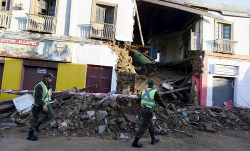 عکس هایی وحستناک از خسارات زلزله 8 ریشتری در شیلی