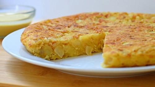 طرز پخت املت اسپانیایی