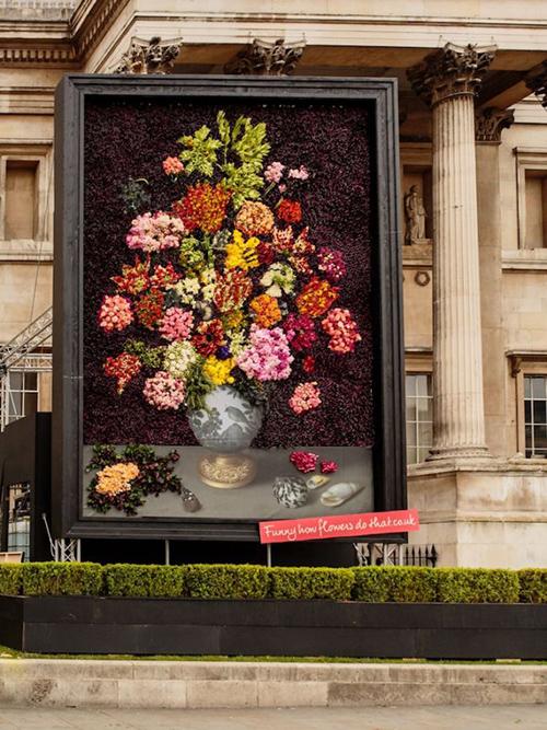 عکس های دیدنی از ساخت بزرگترین تابلو گل های طبیعی