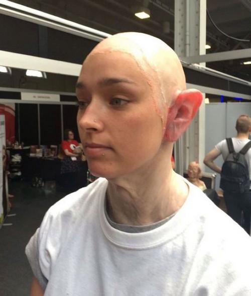 تبدیل باورنکردنی این دختر جوان به پیرمرد (عکس)