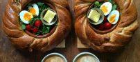 عکس هایی از صبحانه های زیبا و متقارن