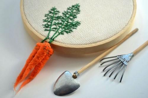 گلدوزی های زیبا و دیدنی با موضوع سبزیجات (عکس)