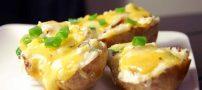 طرز تهیه سیب زمینی با پنیر خوشمزه