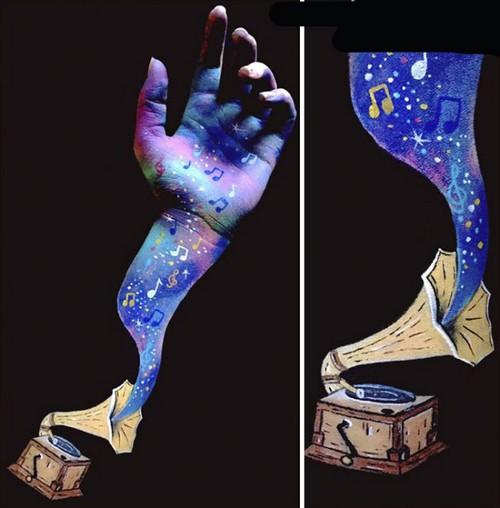عکس های باورنکردنی نقاشی های سه بعدی روی دست  عکس های باورنکردنی نقاشی های سه بعدی روی دست 146780537091721 irannaz com