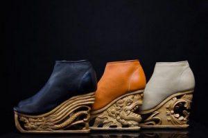 عکس هایی از کفش های چرم با پاشنه های عجیب و غریب