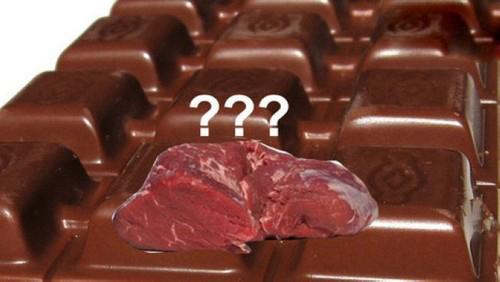 تولید شکلاتی با استفاده از گوشت گاو (عکس)