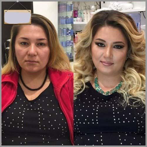 عکس های جنجالی از معجزه ی آرایش بروی صورت خانم ها