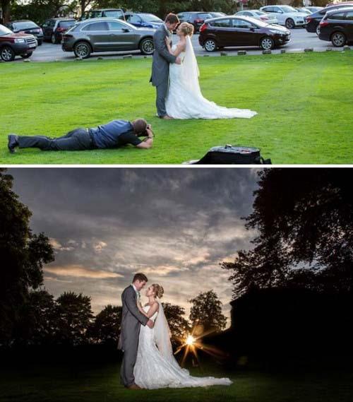 عکس های عروسی زیبا اینگونه گرفته میشود (عکس)