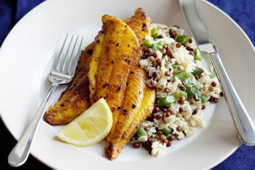 طرز تهیه ماهی شور همراه با پلو