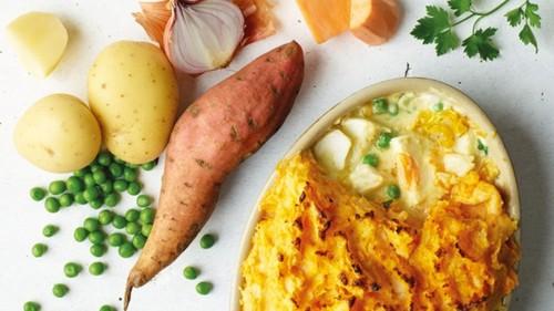 طرز تهیه خوراک سیب زمینی و ماهی