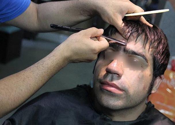 برخورد جدی با برداشتن ابروی آقایان ایرانی (عکس)