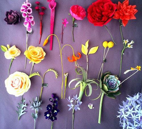 عکس هایی از گل های ساخته شده با کاغذ  عکس هایی از گل های ساخته شده با کاغذ 146965218919700 irannaz com