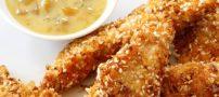 چگونه مرغ تست کنجدی درست کنیم؟