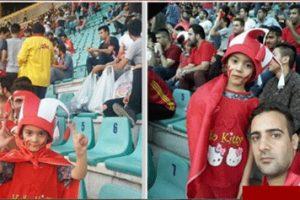 ورود این دختر زیبا به ورزشگاه برای تماشای بازی (عکس)