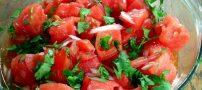 طرز تهیه سالاد گوجه فرنگی