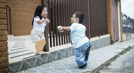 قدکوتاه ترین زوج با عاشقانه ترین زندگی (عکس)