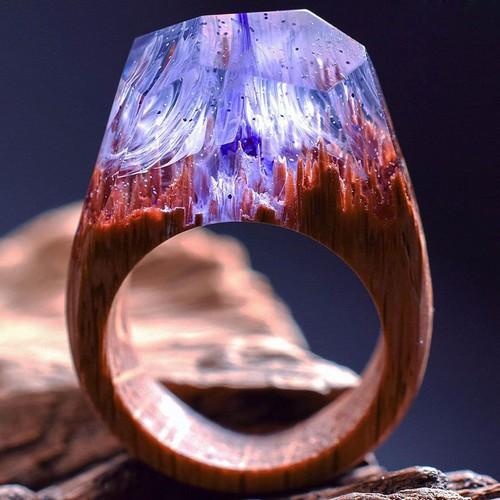 ساخت انگشترهای چوبی زیبا چوب (عکس)
