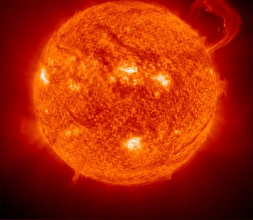 عکس هایی از شعله های خورشید از نمای نزدیک