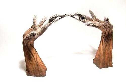 عکس هایی از مجسمه های سرامیکی طرح چوب  عکس هایی از مجسمه های سرامیکی طرح چوب 147206556711209 irannaz com