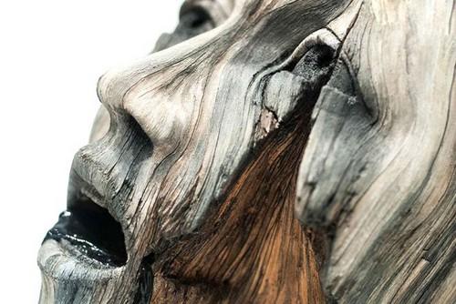 عکس هایی از مجسمه های سرامیکی طرح چوب