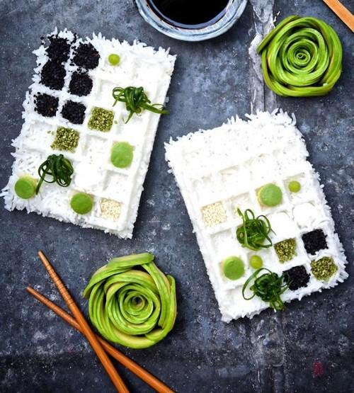 عکس های از تزیین باورنکردنی غذا با آواکادو
