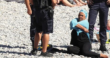 حرکت زننده پلیس فرانسه با این زن محجبه (عکس)