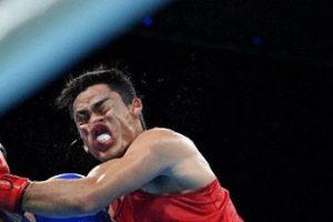 صحنه جالبی از رقابت های مشت زنی در المپیک (عکس)