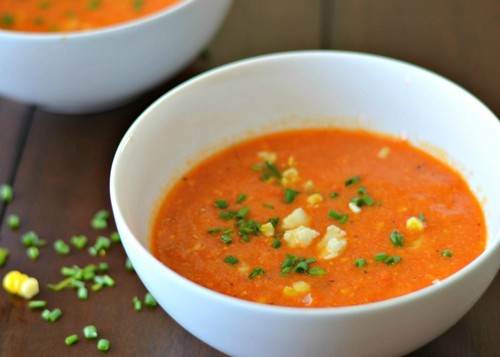 طرز تهیه سوپ ذرت با گوجه خوشمزه
