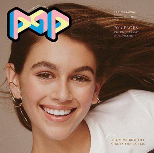 عکس کایا برگر مدلینگ مشهور 14 ساله بروی مجله پاپ