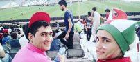 ورود این دختر به ورزشگاه آزادی برای دیدن بازی لالیگا (عکس)