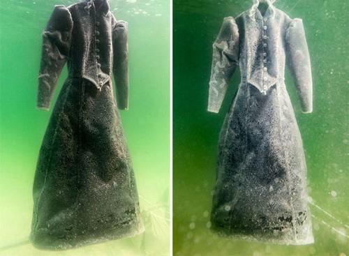 زیباترین لباس از جنس نمک و کریستال (عکس)