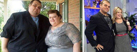 کاهش وزن عجیب این زن و شوهر های با اراده (عکس)