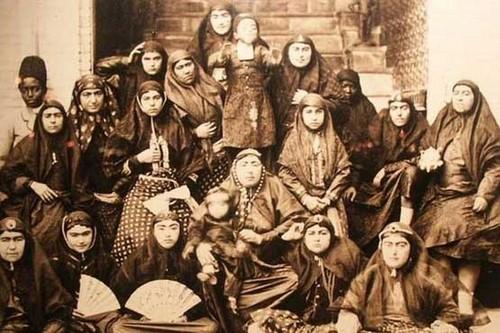 عکس های جالب از سوگلی های حرم سرای ناصرالدین شاه