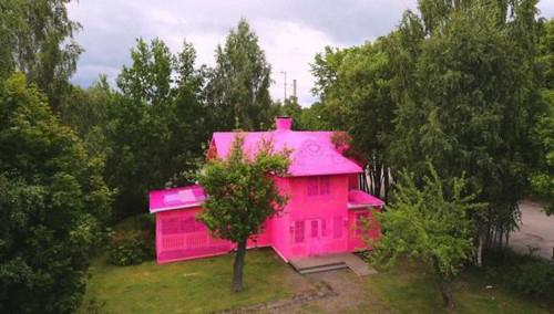 خانه ی عجیب و غریب این زن با رنگ صورتی (عکس)