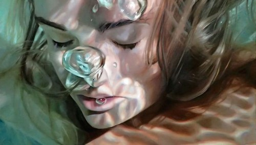 عکس هایی از نقاشی باورنکردنی از زنان زیر آب