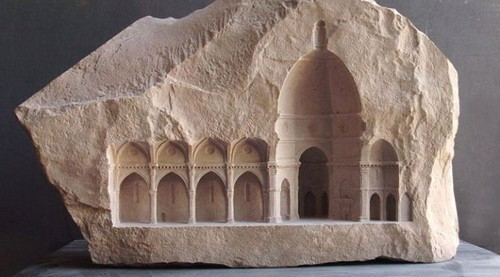 عکس هایی از حکاکی های دیدنی بر روی سنگ مرمر