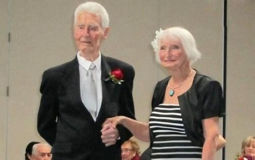 عکس های باورنکردنی از پیرترین عروس و داماد دنیا