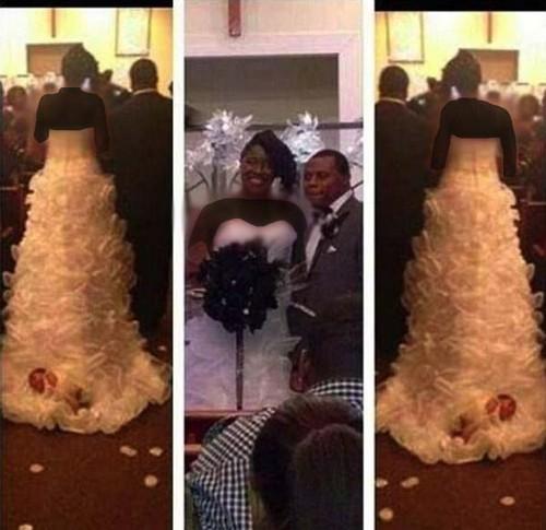 این دختر یک ماهه در لباس عروس چه میکند؟ (عکس)