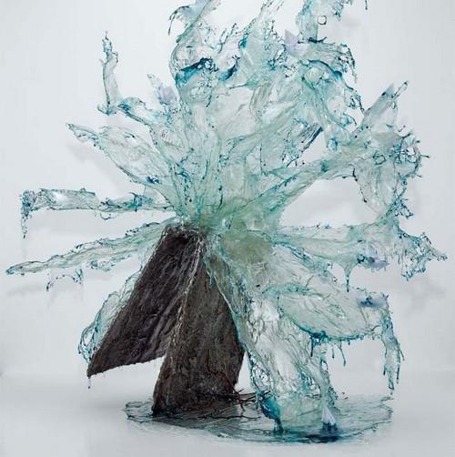 عکس هایی از ساخت مجسمه های باورنکردنی از جنس آب و یخ