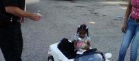 جریمه شدن کوچکترین راننده دختر جهان (عکس)