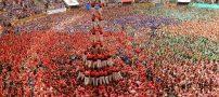 عکس های باورنکردنی از مسابقه برج های انسانی در اسپانیا