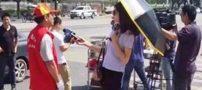کار عجیب این خانم گزارشگر سوژه ی همگان شد (عکس)