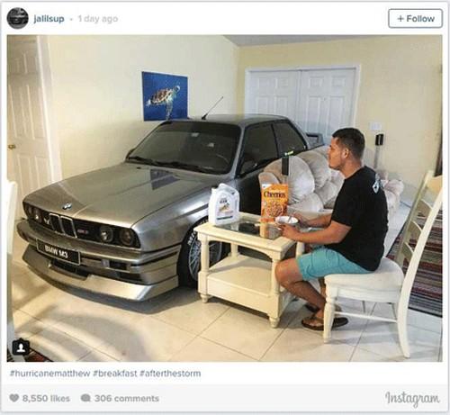 اقدام جالب این پسر برای محافظت از ماشینش (عکس)