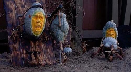 عکس های زیبا از کدوتنبل های مختص هالووین