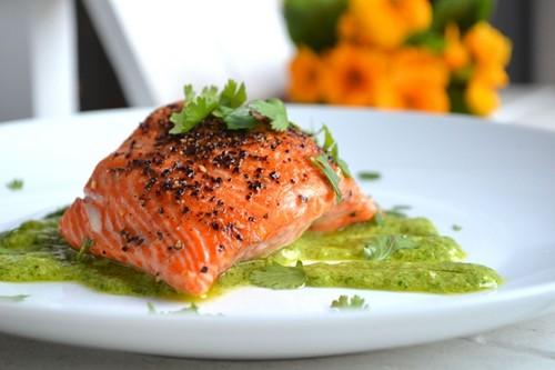 نحوه ی درست کردن ماهی سالمون با سس
