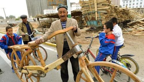 این دوچرخه ی چوبی جالب همه را شوکه کرد (عکس)