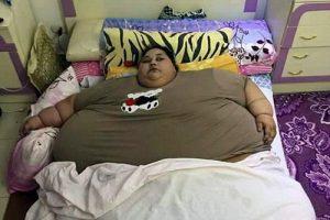 این زن با وزن 500 کیلوگرم چاق ترین زن دنیا است (عکس)