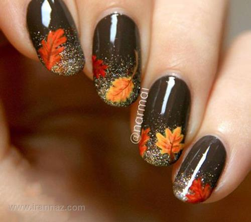 تصاویر مدل طراحی ناخن برای پاییز