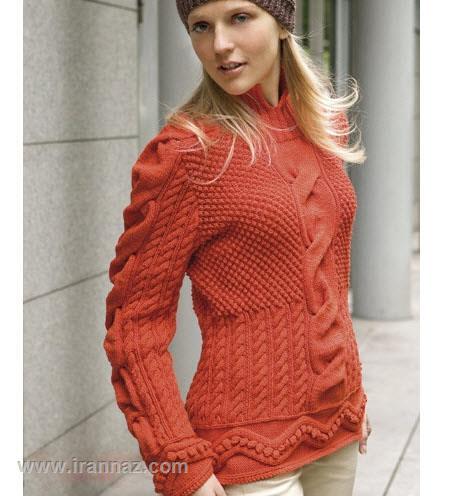 زیباترین مدلهای لباس و مانتوی بافت زنانه