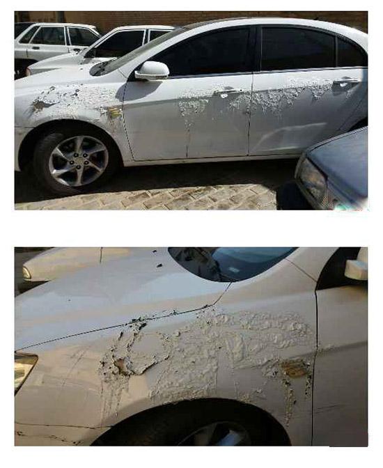 اسیدپاشی روی ماشینهای مدل بالا در شیراز +تصاویر
